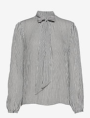 Cream - Bowie blouse - langärmlige blusen - black white stripe - 0