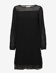 Cream - Tara Solid Dress - short dresses - pitch black - 0