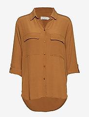 Cream - Milanie Shirt - blouses à manches longues - bronzed - 0