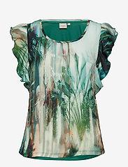 Cream - Palm T-shirt - blouses sans manches - malachite green - 0