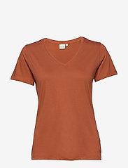 Cream - Naia T-shirt - t-shirts - baked clay - 1