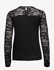 Cream - KaneCR Long Sleeve T-shirt - pitkähihaiset t-paidat - pitch black - 1