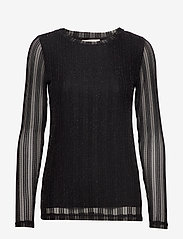 Cream - ZoeCR Long Sleeve T-shirt - basic t-shirts - pitch black - 0