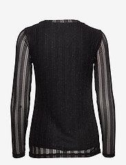Cream - ZoeCR Long Sleeve T-shirt - basic t-shirts - pitch black - 1
