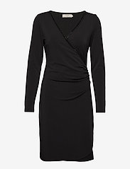 Cream - VelitaCR Dress - wrap dresses - pitch black - 0