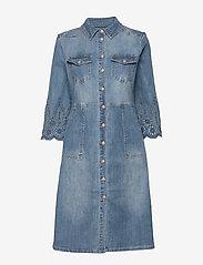 Cream - RositaCR Denim Dress - jeanskleider - light blue denim - 0