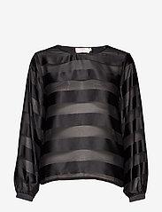 Cream - MillieCR Blouse - blouses à manches longues - pitch black - 0