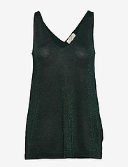 Cream - SierraCR Knit Top - hauts sans manches - deep green - 0