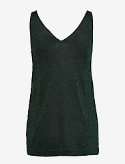 Cream - SierraCR Knit Top - hauts sans manches - deep green - 1