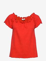 Cream - ToriCR T-shirt - t-shirts - aurora red - 0