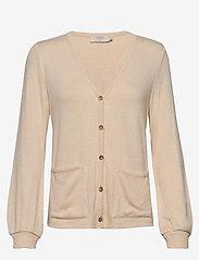 Cream - SallyCR Short Cardigan - kardigany - cream white - 0