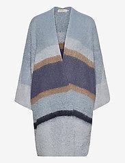 Cream - SinaCR Cardigan - swetry rozpinane - blue beige stripe - 0