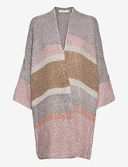 Cream - SinaCR Cardigan - swetry rozpinane - grey lilac stripe - 0