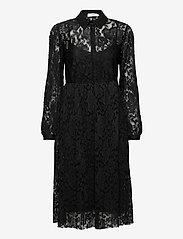 Cream - AliciaCR Lace Dress - cocktail-kjoler - pitch black - 0