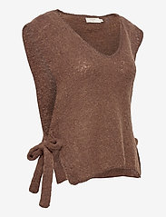 Cream - MaggieCR Sleeveless Pullover - knitted vests - carafe - 3