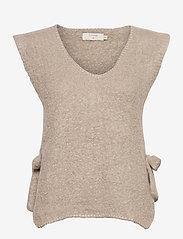 Cream - MaggieCR Sleeveless Pullover - neuleliivit - feather gray - 0