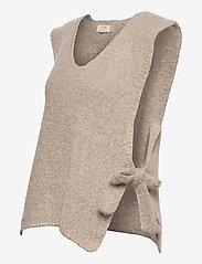 Cream - MaggieCR Sleeveless Pullover - neuleliivit - feather gray - 2