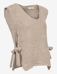 Cream - MaggieCR Sleeveless Pullover - neuleliivit - feather gray - 3