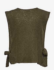 Cream - MaggieCR Sleeveless Pullover - knitted vests - sea turtle - 1