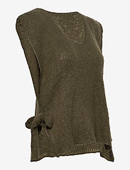 Cream - MaggieCR Sleeveless Pullover - knitted vests - sea turtle - 2