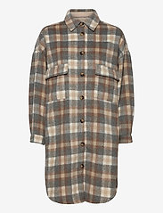Cream - TaraCR OZ Shirt Jacket - overshirts - feather gray check - 0