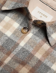 Cream - TaraCR OZ Shirt Jacket - overshirts - feather gray check - 2