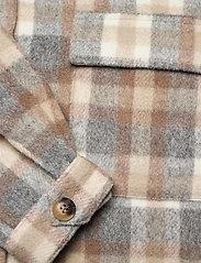 Cream - TaraCR OZ Shirt Jacket - overshirts - feather gray check - 3