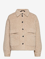 Cream - CRCarla Short Jacket - faux fur - sesame melange - 1