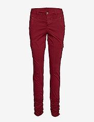 Cream - LinaCR Pants - broeken med skinny fit - merlot red - 0