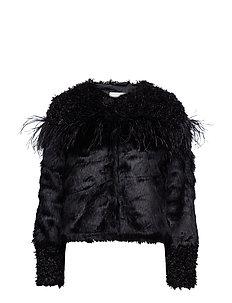 Jeanelle Fake Fur - PITCH BLACK