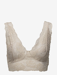 Glaze Top - bralette & corset - feather grey
