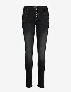 Baiily Power Stretch Jeans - BLACK DENIM