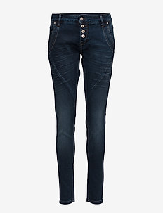Baiily Power Stretch Jeans - DARK BLUE DENIM