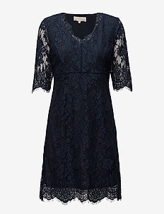 Adriana Lace Dress - ROYAL NAVY BLUE