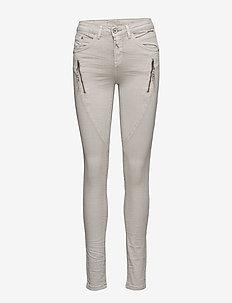Bibiana Twill - Shape - trousers with skinny legs - nature gray