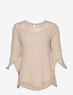 Kalanie Blouse - long sleeved blouses - cement