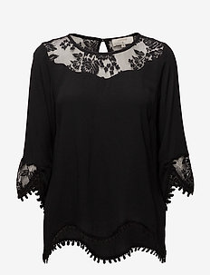 Kalanie Blouse - PITCH BLACK