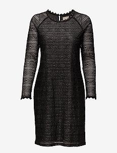 Allelu Dress - kanten jurken - pitch black
