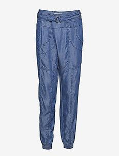 Trina Pants - casual housut - light blue denim