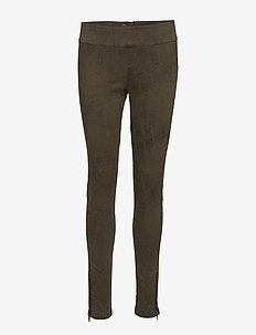 Belus Printed - katy fit - spodnie rurki - army green