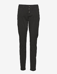 Kamma Pants- Baily fit - slim fit spodnie - dark grey melange