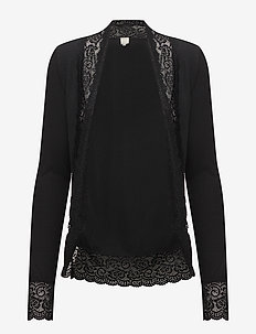 Vanessa jersey cardigan - PITCH BLACK