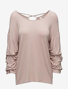 Valerie blouse - blouses lange mouwen - rose smoke