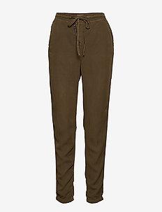 Paisley Pants - Plain - casual bukser - crocodile green