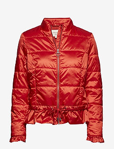 Crystal short Jacket - scarlet orange