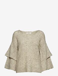 Penelope Knit pullover - swetry - oat melange