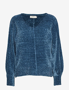 Mellie Knit Pullover - OCEAN BLUE