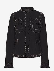 Sue Suede jacket - kurtki skórzane - pitch black