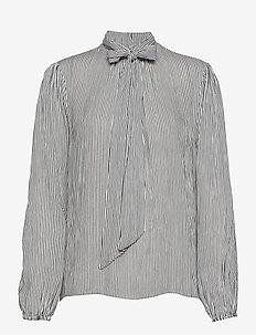 Bowie blouse - langærmede bluser - black white stripe