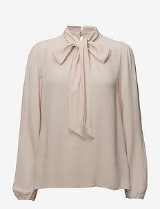 Bowie blouse - langærmede bluser - rose dust